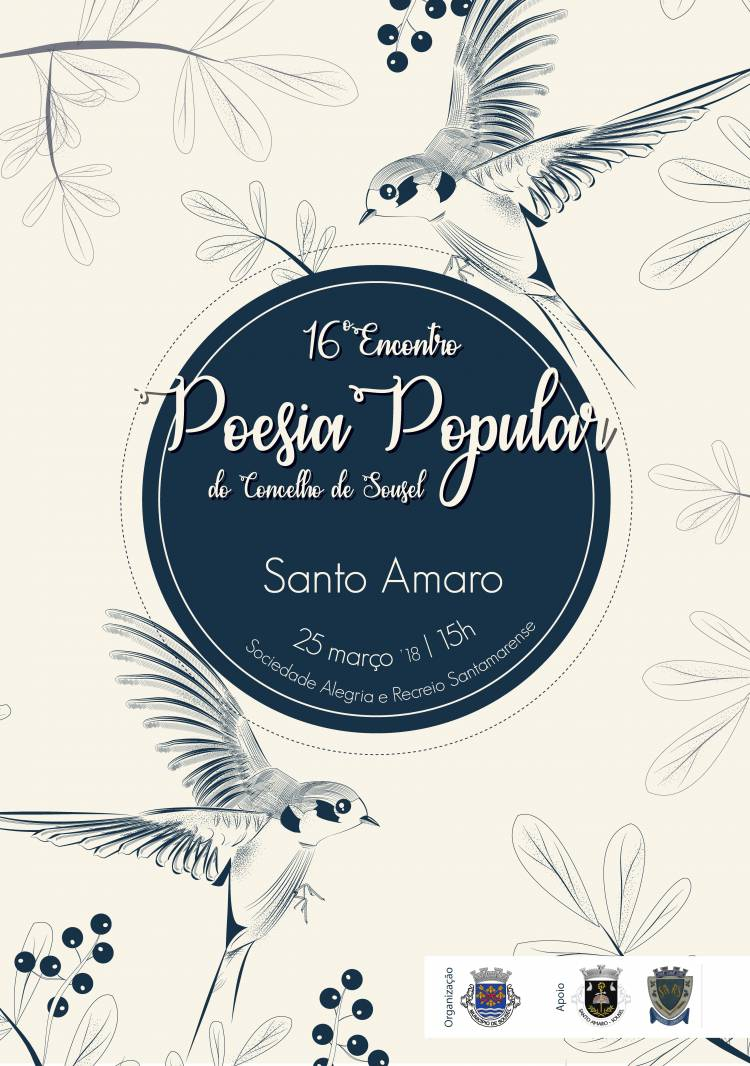 Santo Amaro receberá 16 Encontro de Poesia Popular do Concelho de Sousel