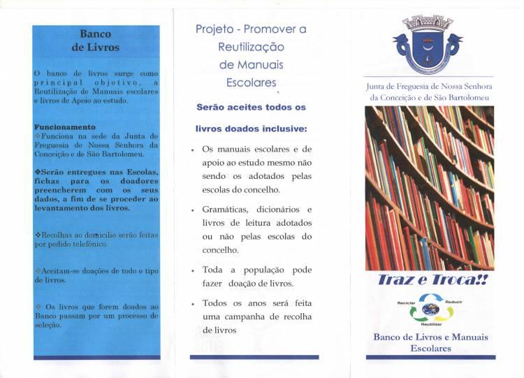 Vila Viçosa: Freguesia de Conceição e São Bartolomeu disponibiliza mais de 20 mil euros para reutilização de livros