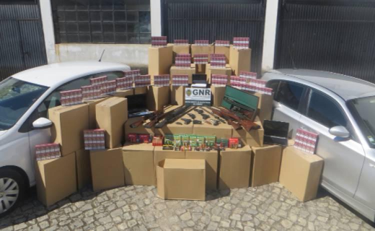 GNR apreende  68 milhões de cigarros  em megaoperação que envolveu distrito de Évora