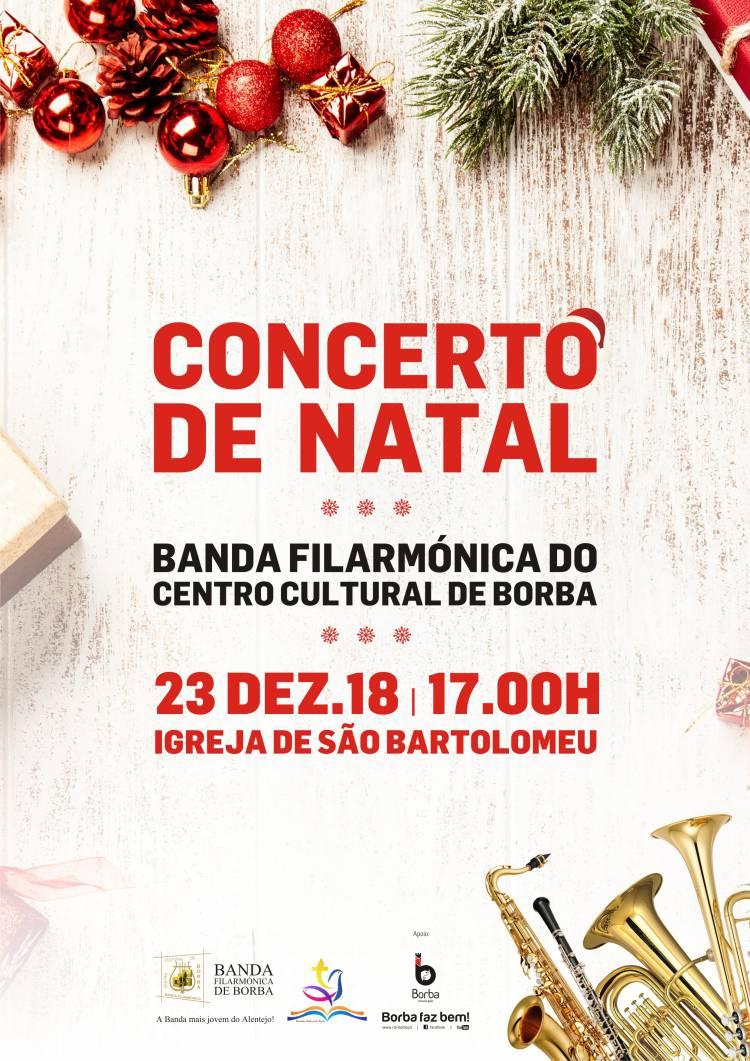Tradicional concerto de Natal da Banda de Borba tem lugar este domingo