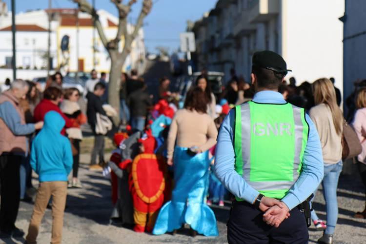 GNR regista 18 crimes no distrito de Évora esta segunda e terça-feira de Carnaval (c/som)