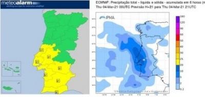 Proteção Civil alerta: condições meteorológicas vão agravar-se a partir da tarde