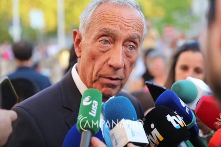 """""""Se a sociedade civil não dá força ao poder político alentejano, é difícil que ele tenha a voz que deve ter"""", diz Marcelo Rebelo de Sousa (c/som)"""