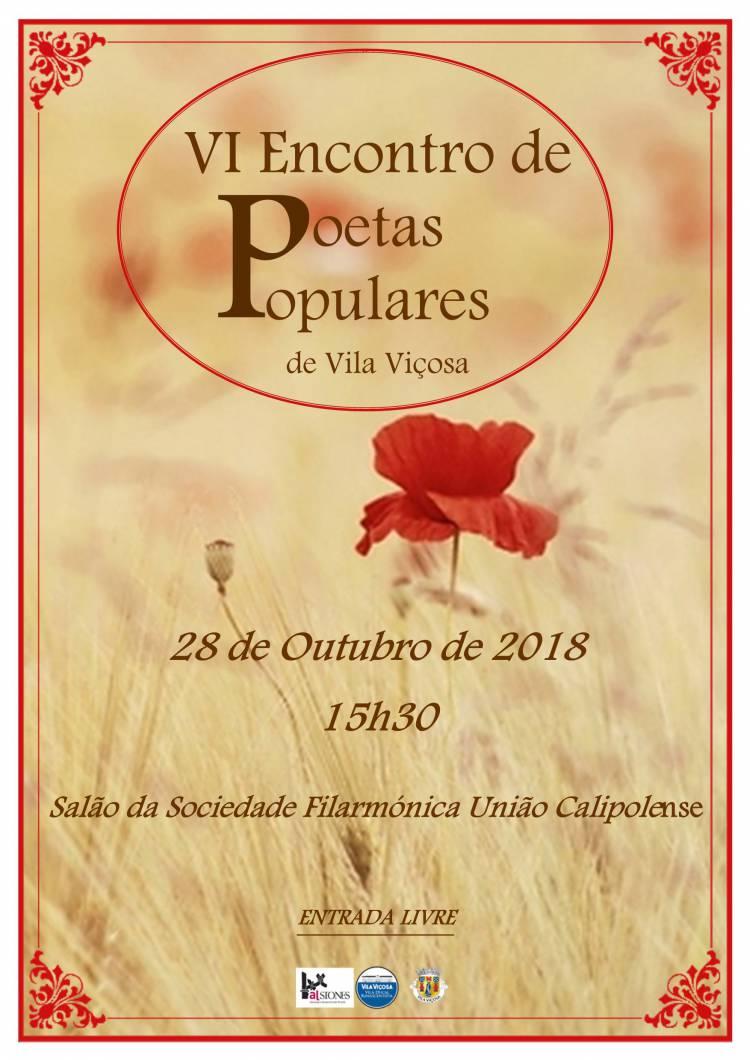 Vila Viçosa recebe VI Encontro de Poetas Populares a 28 de outubro