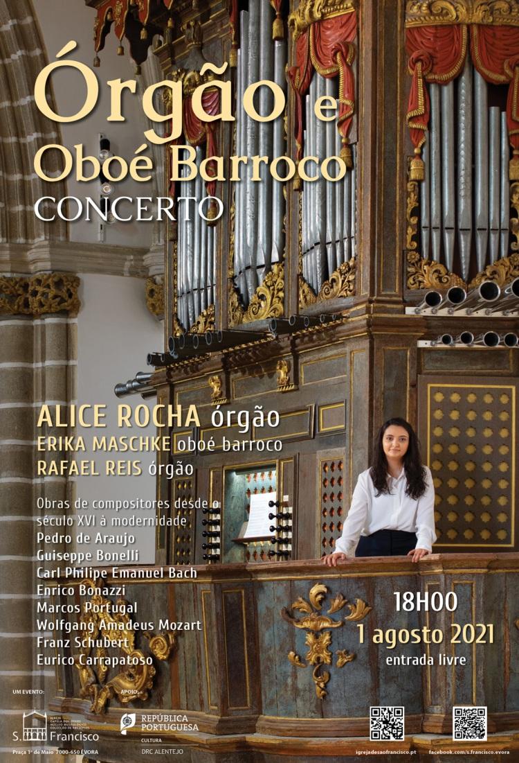 Concerto de órgão e oboé barroco na igreja de S. Francisco