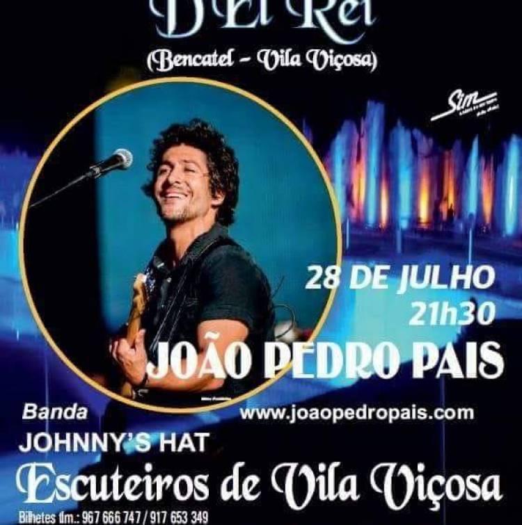Pedreira D'Rei recebe este sábado concerto de João Pedro Pais