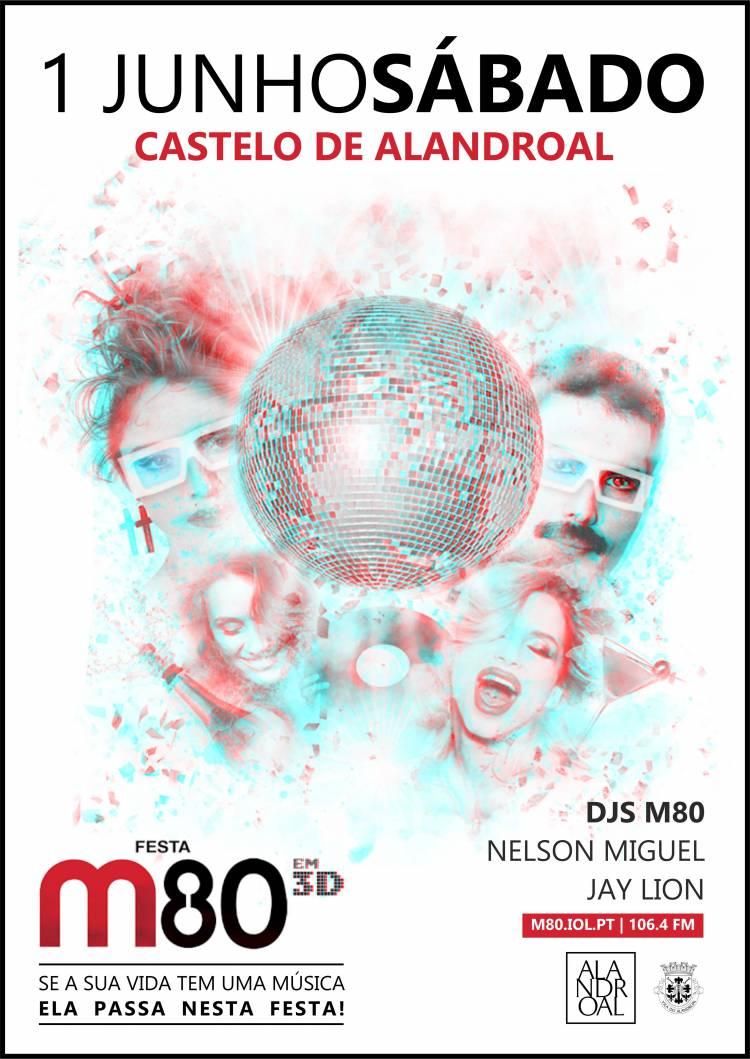 """Castelo de Alandroal recebe festa """"M80 em 3D"""", a 1 de junho"""