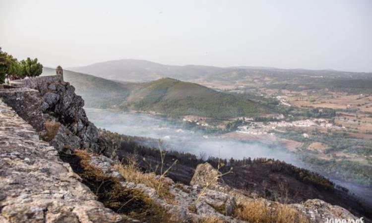 Castanheiros «ajudaram» no combate às chamas em Marvão