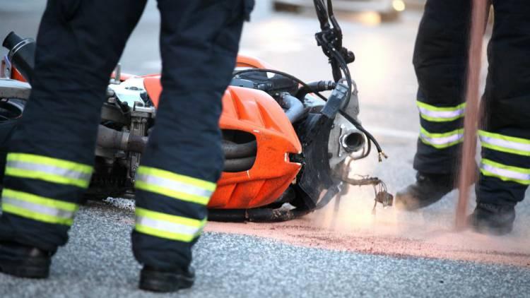 Despiste de motociclo faz 1 ferido em Campo Maior