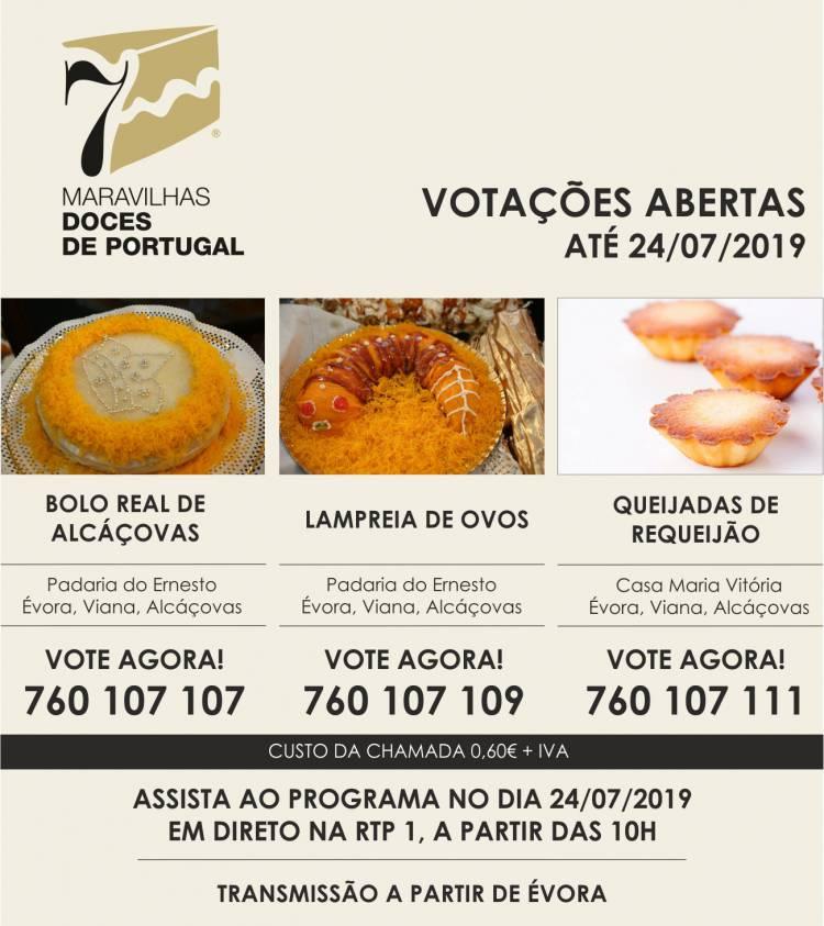 """Viana do Alentejo tem 3 doces a concurso para as """"7 Maravilhas Doces de Portugal"""""""