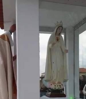 Clube de Caça e Pesca de São Romão retribui à população com Nicho do Imaculado Coração de Maria (c/som)