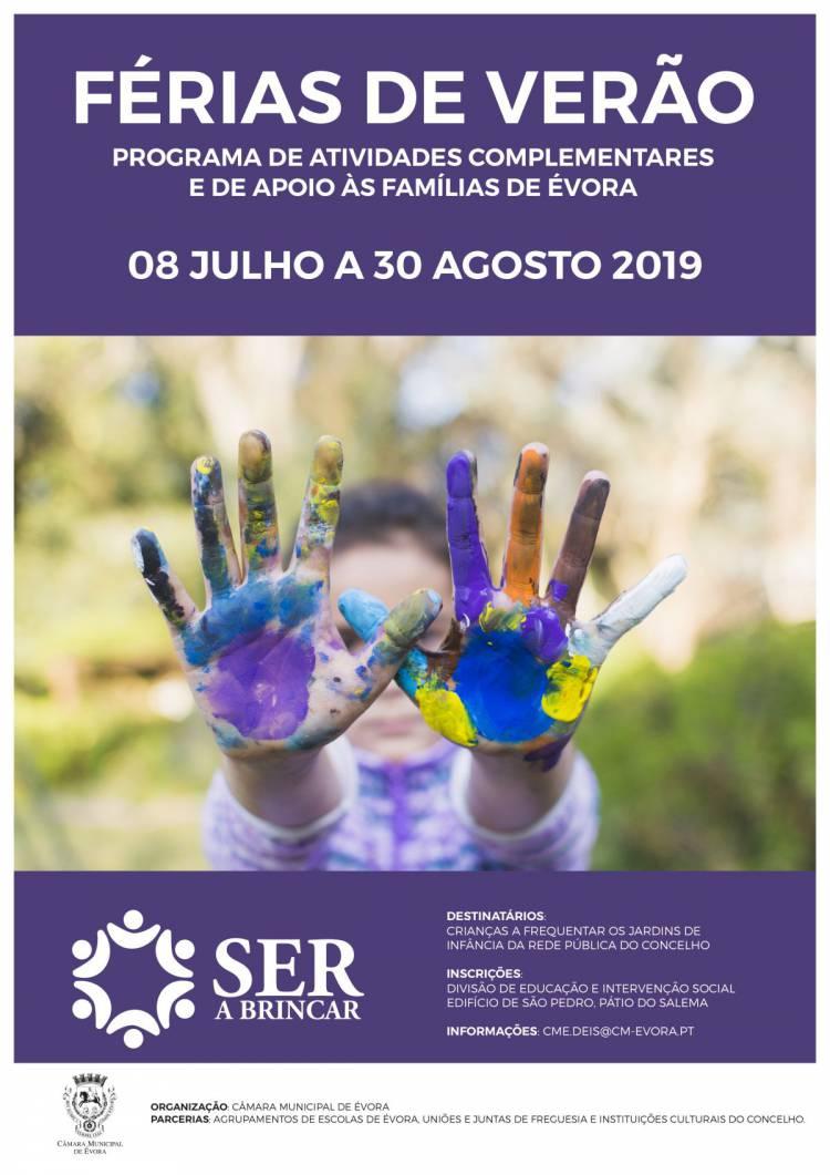 Abertas Inscrições nas Férias de Verão do programa Ser a Brincar em Évora