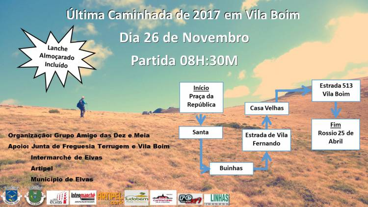 Vila Boim recebe ultima caminhada de 2017