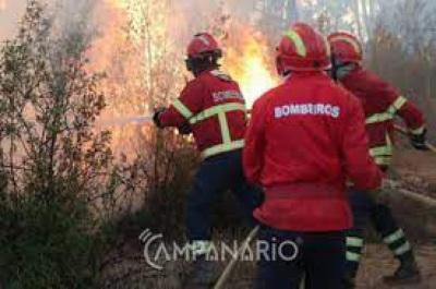 Campo Maior: Incêndio mobiliza mais de 30 operacionais apoiados por um meio aéreo