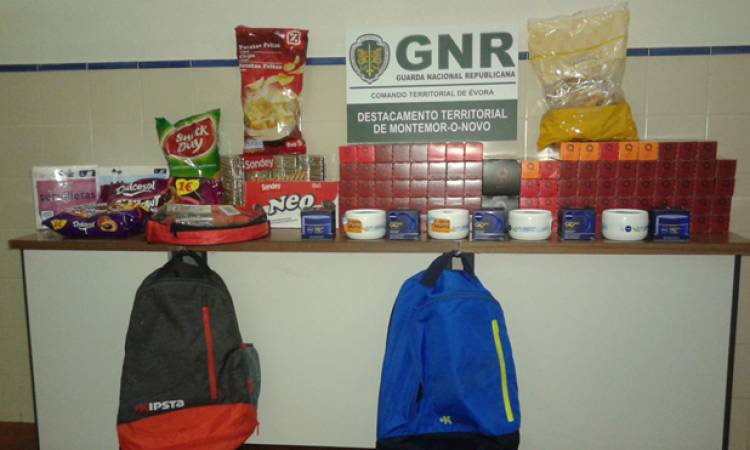 Montemor-o-Novo: GNR deteve dois estrangeiros por assaltarem supermercado