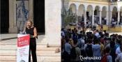 """""""Não há praxe dentro da Universidade de Évora e isso não diminui a felicidade dos alunos"""" diz Reitora da Universidade de Évora (c/som)"""