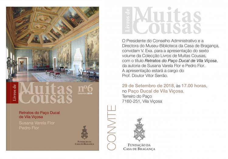 Fundação da Casa de Bragança apresenta mais um volume da Colecção Muitas Cousas