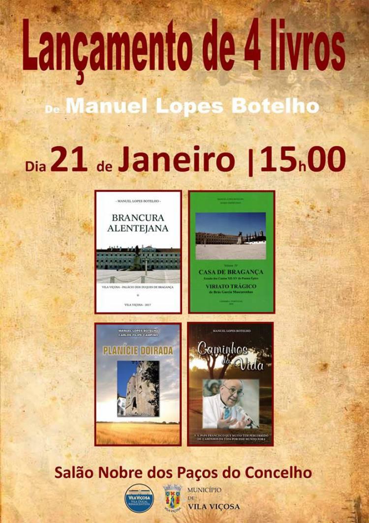 Vila Viçosa recebe lançamento de livros do Padre Manuel Botelho