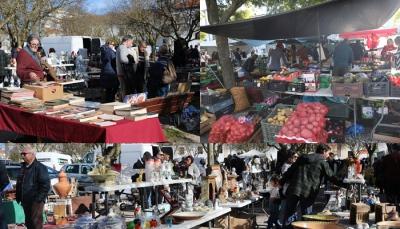 Mercado e Feira das Velharias atraem milhares de pessoas todos os sábados a Estremoz, presidente diz que é um importante fator económico para a cidade (c/som e fotos)