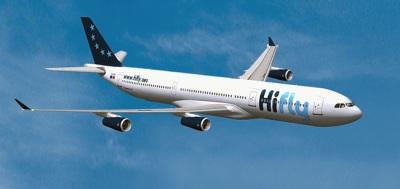 Parte de Beja, quarta-feira, avião da Hi Fly para realizar voo de repatriamento de portugueses em Cabo Verde