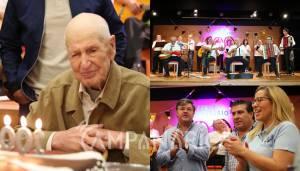 """Santa Casa de Borba celebra o 100º aniversário do Sr. António Amante """"sinal de vitalidade e dinamismo dos utentes e da instituição"""", diz Provedor (c/som e fotos)"""