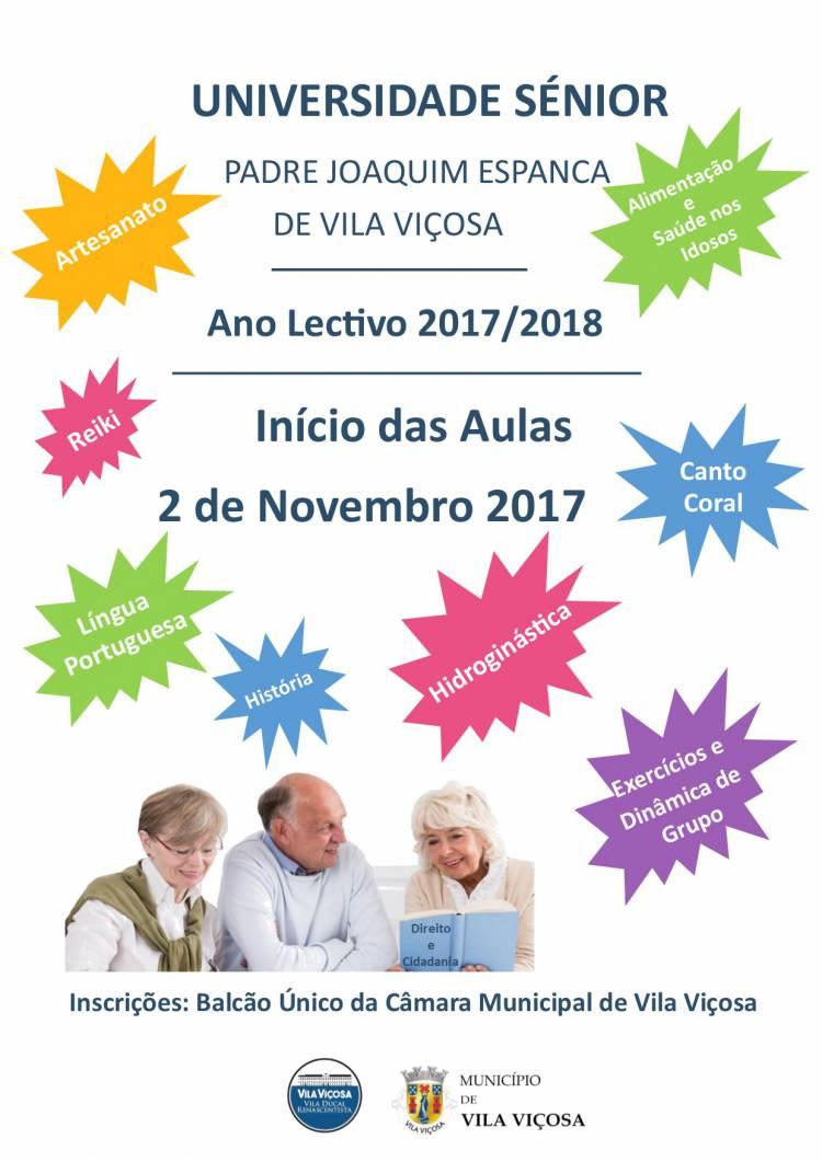 Universidade Sénior de Vila Viçosa com inscrições abertas