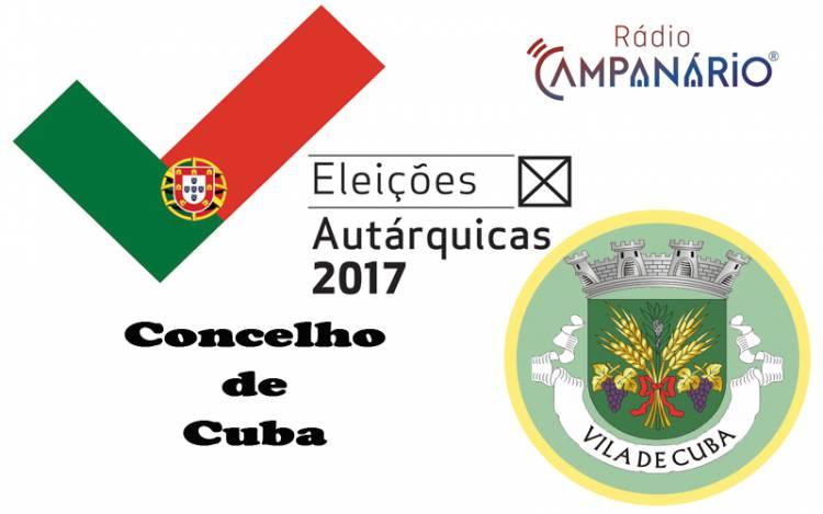 Autárquicas 2017: Os resultados eleitorais do concelho de Cuba (c/dados)
