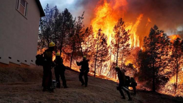 Violento incêndio nos concelhos de Grândola e Santiago do Cacém mobiliza 8 meios aéreos e obriga a corte do IC33