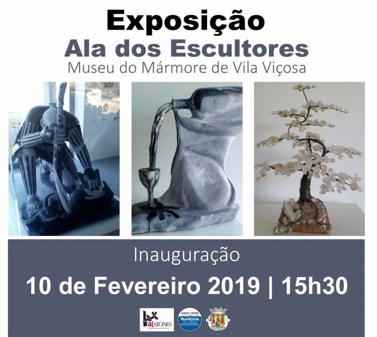 """""""Exposição – Ala dos Escultores"""" no Museu do Mármore de Vila Viçosa a partir de domingo"""