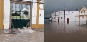 Fortes chuvadas provocam inundações no Alentejo. Crato, Alter do chão, Évora e Mourão com inundações