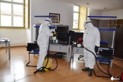 Câmara Municipal de Redondo reforça combate à pandemia com desinfeção de edifícios