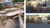 Acidente derruba muro da Fonte das Bicas no Alandroal