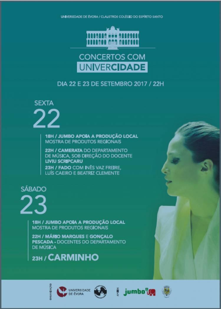 Universidade de Évora recebe duas noites de música