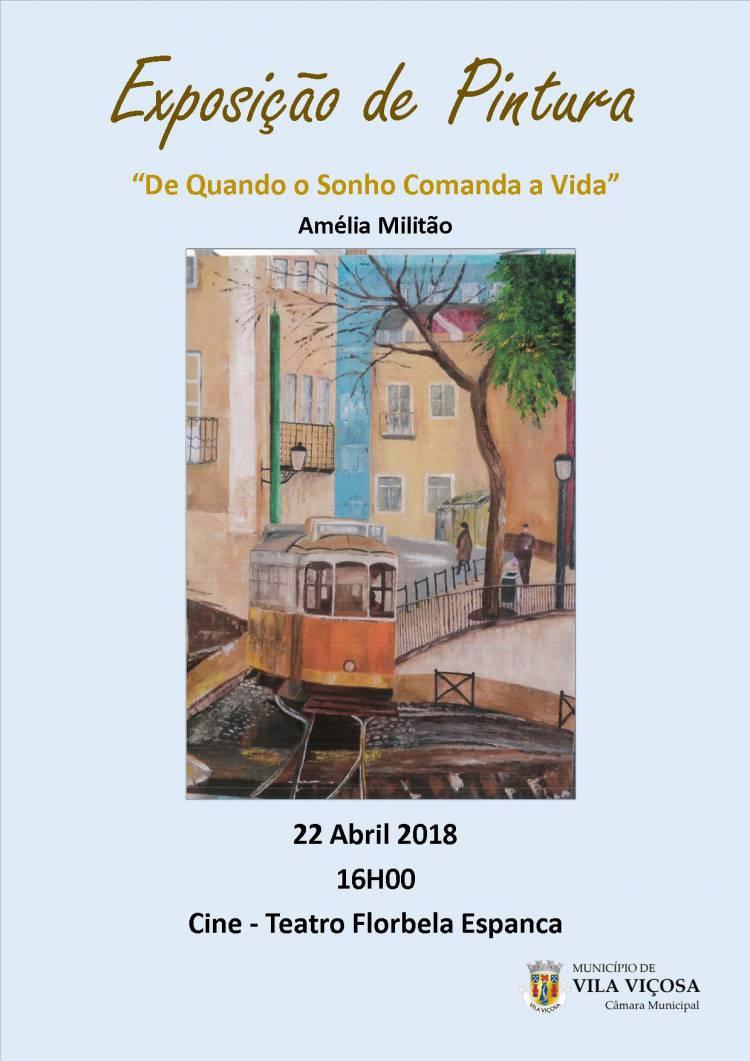 Cineteatro de Vila Viçosa recebe exposição de pintura a 22 de Abril