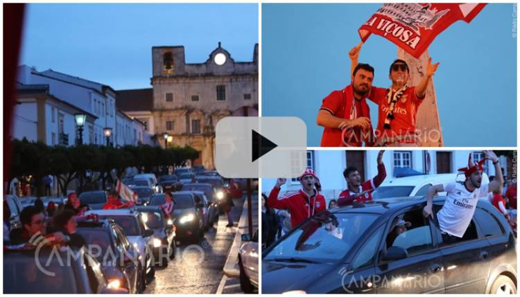 Veja aqui em vídeo as celebrações do 37º título do Benfica em Vila Viçosa
