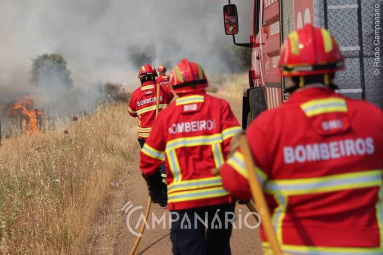 Beja: Incêndio agrícola mobilizou mais de meia centena de bombeiros