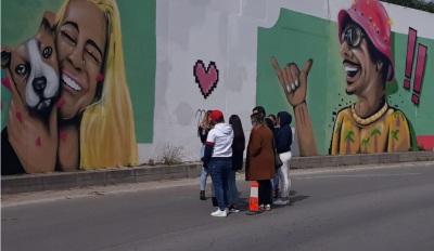 Mural em Évora homenageia os 3 jovens que faleceram no fatídico acidente próximo de Redondo em 2019