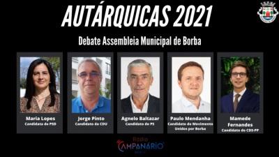 Autárquicas 2021: Em vídeo o debate dos candidatos à Assembleia Municipal de Borba