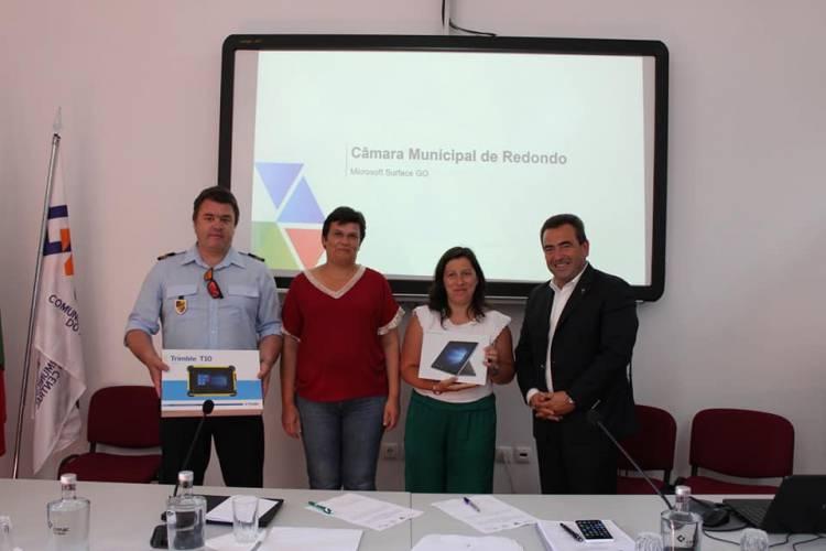 A CIMAC procedeu à entrega de tablets aos elementos da Proteção Civil e Entidades do Distrito de Évora