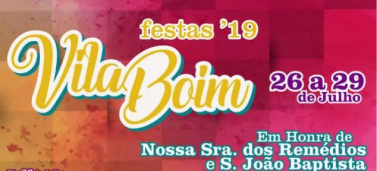 Vila Boim em festa de 26 a 29 de julho, conheça aqui o programa