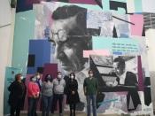 Está a surgir um mural dedicado a José Régio em Portalegre