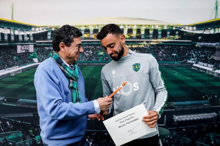 "Bruno Fernandes é distinguido com o prémio Alentejo, referente à categoria ""Mais Desporto"""