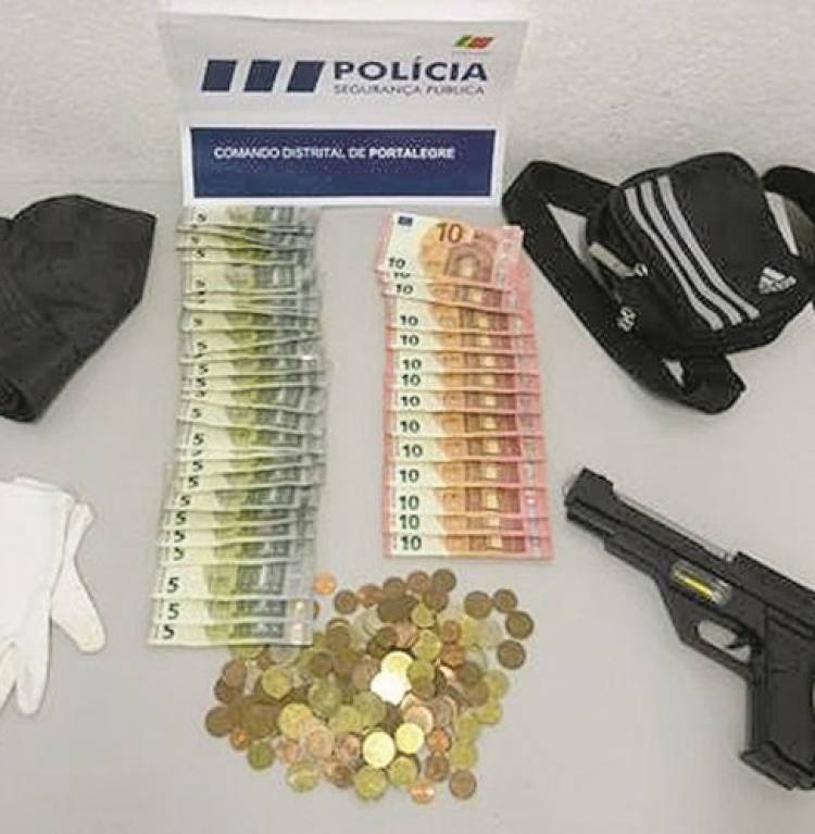 Detido homem em Portalegre ao tentar assaltar banco com arma de plástico