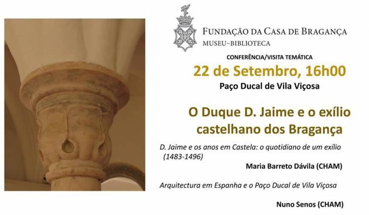 """Paço Ducal recebe visita temática sobre """"D. Jaime e o exílio castelhano dos Bragança"""""""