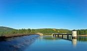 Barragem da Apartadura, situada no concelho de Marvão, com armazenamento de água de 100%
