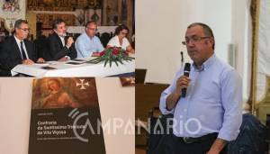 Empresas de Vila Viçosa têm ajudado a requalificar o património religioso, diz pres. da Confraria da St. Trindade na apresentação de livro (c/som e fotos)