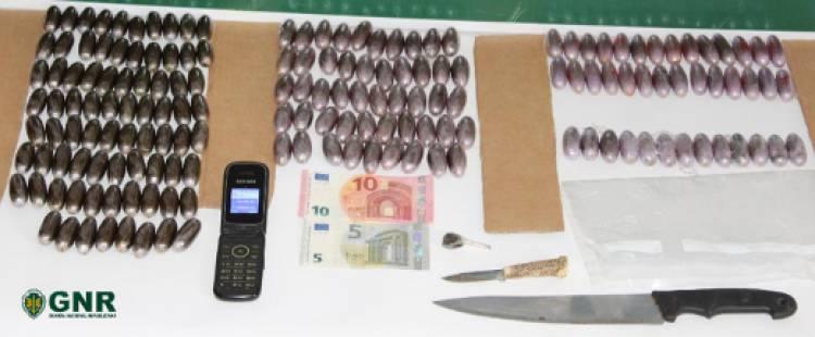 Homem detido com mais de 3 400 doses de droga em Moura