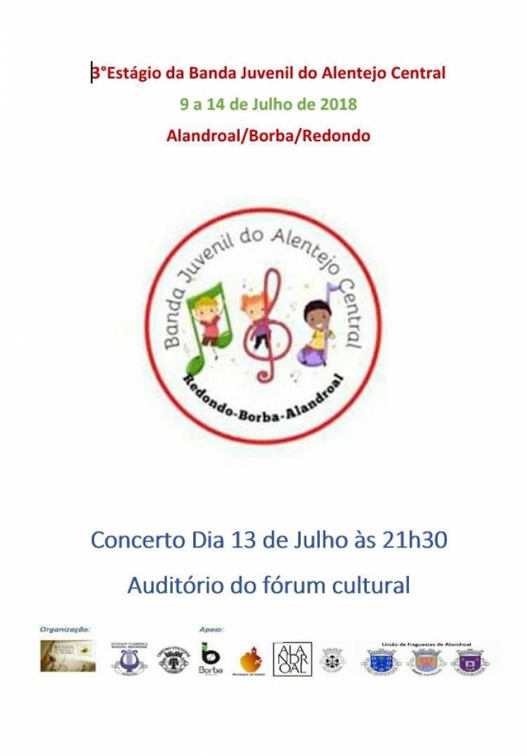 Alandroal receberá concerto da Banda Juvenil do Alentejo Central