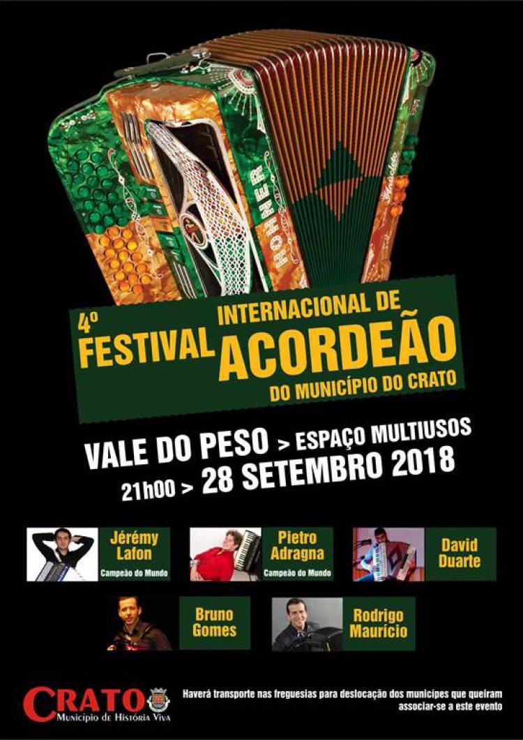 Crato receberá 4º Festival Internacional de Acordeão