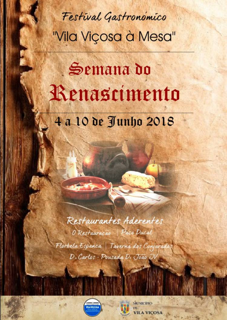 "Vila Viçosa promove semana gastronómica dedicada ao ""Renascimento"""